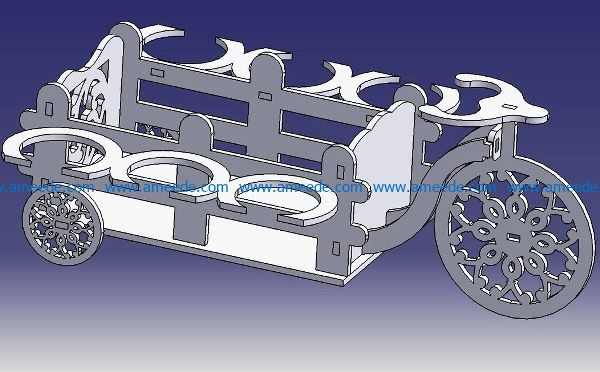 Mini Bar Velosiped file cdr and dxf free vector download for Laser cut