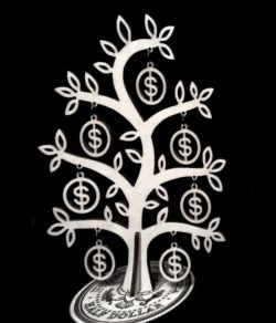 Money tree file cdr and dxf free vector download for Laser cut