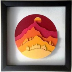 Mountain picture file cdr and dxf free vector download for Laser cut