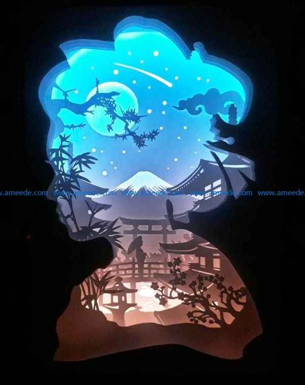 Multilayer light paintings file cdr and dxf free vector download for Laser cut