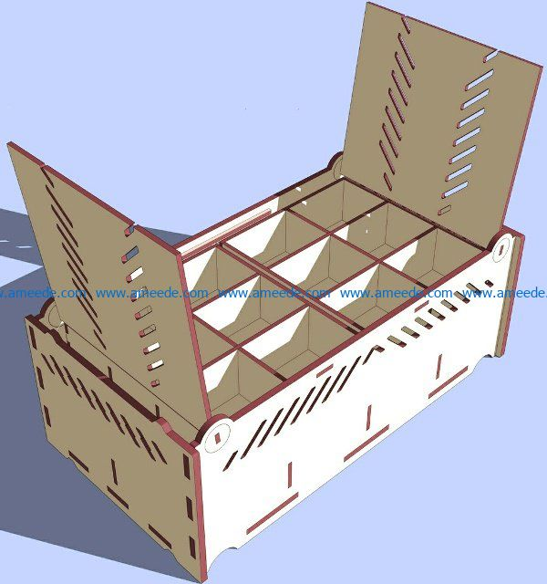 Organization box file cdr and dxf free vector download for Laser cut