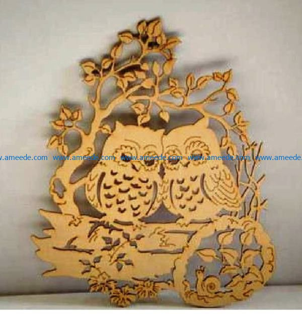 Owls and snails file cdr and dxf free vector download for Laser cut