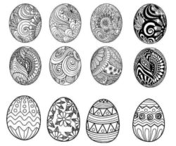 Pattern decorated with easter eggs file cdr and dxf free vector download for laser engraving machines