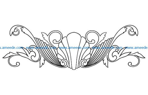 Pattern flowers E0009202 wood carving file cdr and dxf free vector download for CNC cut