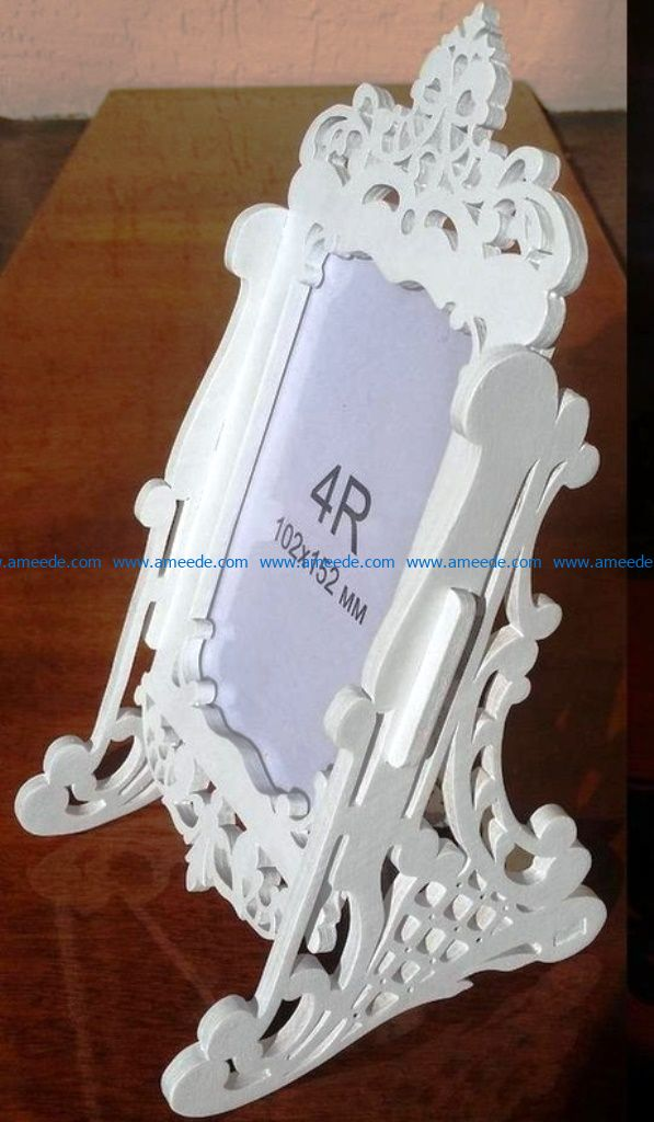 Photo frames with brackets file cdr and dxf free vector download for Laser cut