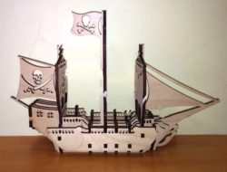 Pirate boat  file cdr and dxf free vector download for Laser cut