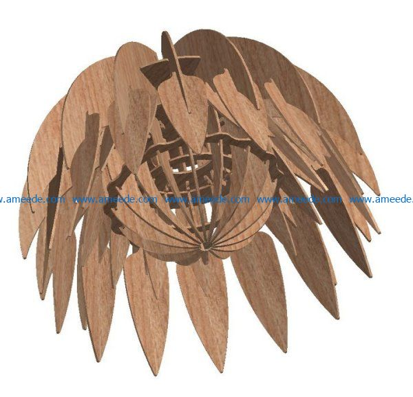 Protea Light file cdr and dxf free vector download for Laser cut