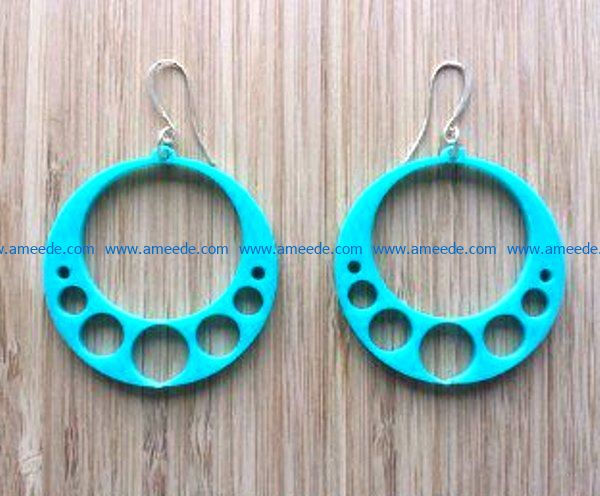 Quilled earrings file cdr and dxf free vector download for Laser cut