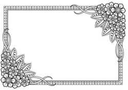 Rectangular flower frame  file cdr and dxf free vector download for laser engraving machines