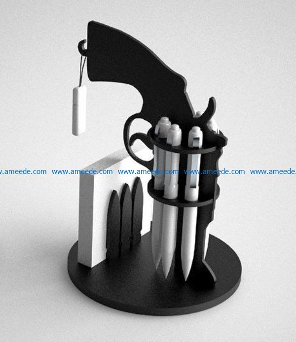 Revolver file cdr and dxf free vector download for Laser cut