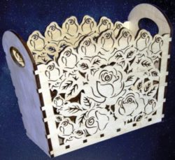 Rose Box file cdr and dxf free vector download for Laser cut