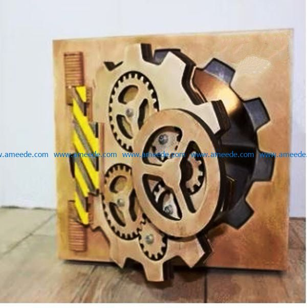 Safety gear box file cdr and dxf free vector download for Laser cut