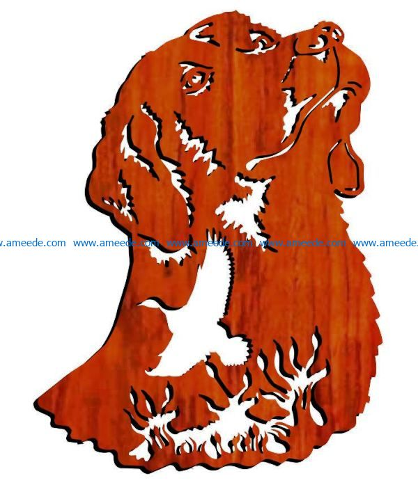Dog and bird file cdr and dxf free vector download for Laser cut Plasma