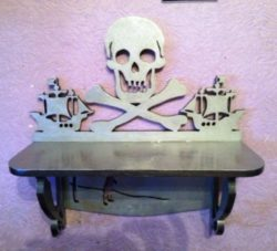 Skull shelf file cdr and dxf free vector download for Laser cut