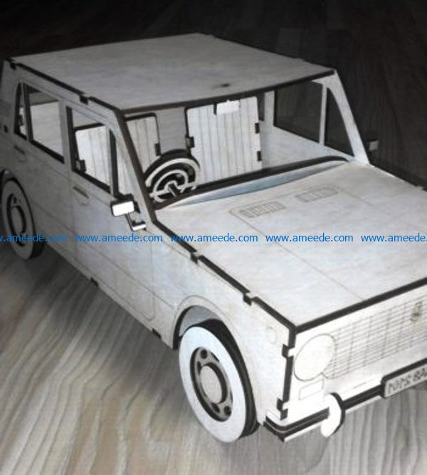 Small passenger car file cdr and dxf free vector download for Laser cut