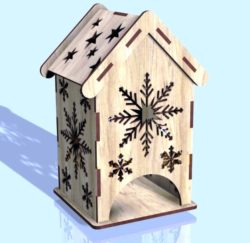 Snowflake tea house file cdr and dxf free vector download for Laser cut