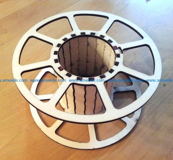 Spool file cdr and dxf free vector download for Laser cut