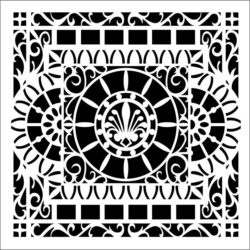 Square decoration E0009217 ffile cdr and dxf free vector download for Laser cut CNC