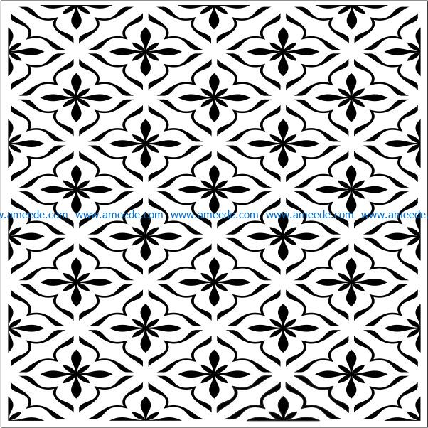 Square decoration E0009218 file cdr and dxf free vector download for laser engraving machines