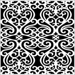 Square decoration E0009219 file cdr and dxf free vector download for Laser cut CNC