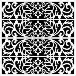 Square decoration E0009221 file cdr and dxf free vector download for Laser cut CNC