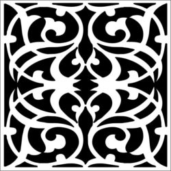 Square decoration E0009334 file cdr and dxf free vector download for Laser cut CNC