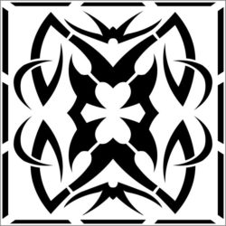 Square decoration E0009335 file cdr and dxf free vector download for Laser cut CNC