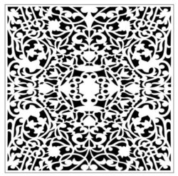 Square decoration E0009336 file cdr and dxf free vector download for Laser cut CNC