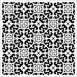 Square decoration E0009390 file cdr and dxf free vector download for Laser cut CNC