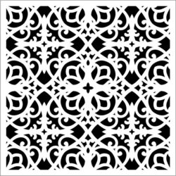 Square decoration E0009391 file cdr and dxf free vector download for Laser cut CNC