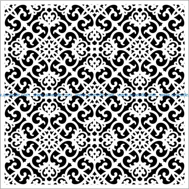 Square decoration E0009655 file cdr and dxf free vector download for Laser cut CNC