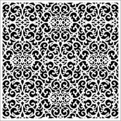 Square decoration E0009656 file cdr and dxf free vector download for Laser cut CNC