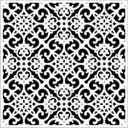 Square decoration E0009657 file cdr and dxf free vector download for Laser cut CNC