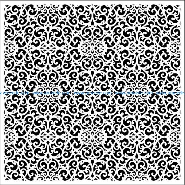 Square decoration E0009658 file cdr and dxf free vector download for Laser cut CNC