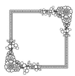 Square decorative frame file cdr and dxf free vector download for laser engraving machines