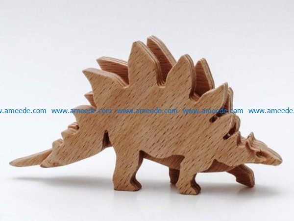 Stegosaurus file cdr and dxf free vector download for Laser cut