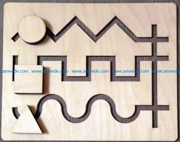 Strange labyrinth file cdr and dxf free vector download for Laser cut