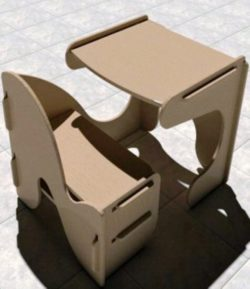 Table and chairs for children file cdr and dxf free vector download for Laser cut