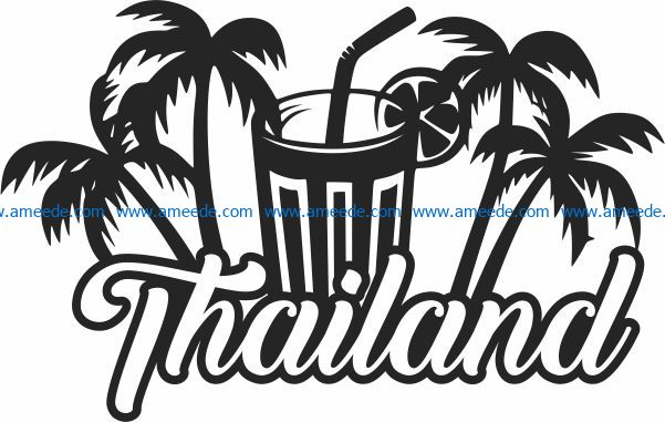 Thailand icon file cdr and dxf free vector download for Laser cut Plasma