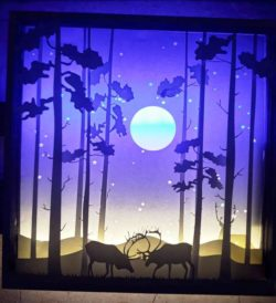 The Reindeer In The Middle Of The Night file cdr and dxf free vector download for Laser cut