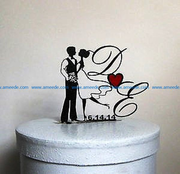 Topper couple file cdr and dxf free vector download for Laser cut