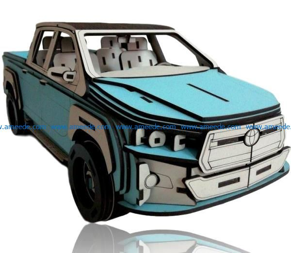 Toyota hilux file cdr and dxf free vector download for Laser cut