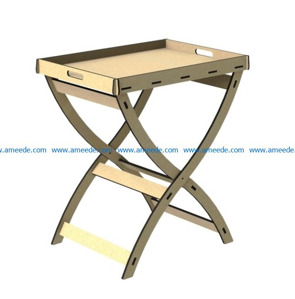 Tray table file cdr and dxf free vector download for Laser cut