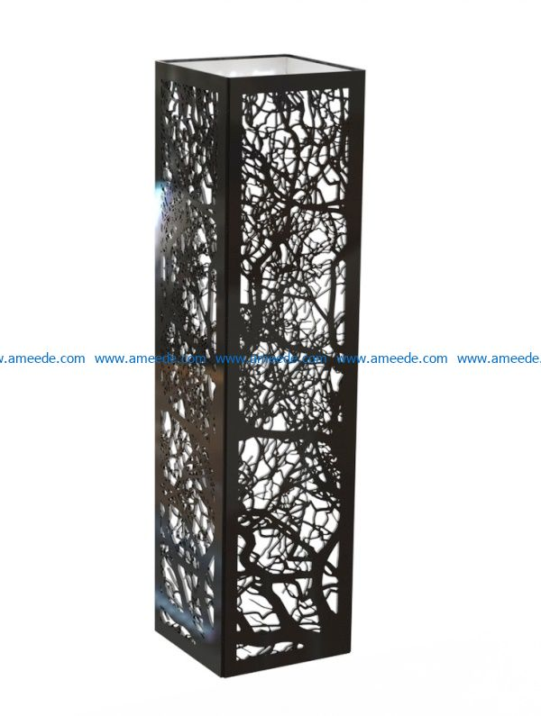 Tree vignette light box file cdr and dxf free vector download for Laser cut