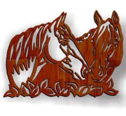 Two horses graze file cdr and dxf free vector download for Laser cut Plasma