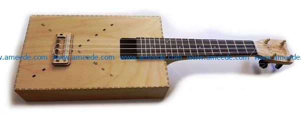 Ukulele file cdr and dxf free vector download for Laser cut