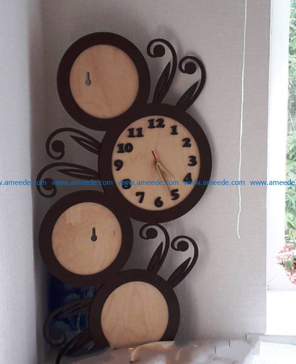 Unique clock file cdr and dxf free vector download for Laser cut