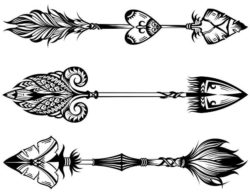 Unique decorative arrows file cdr and dxf free vector download for laser engraving machines