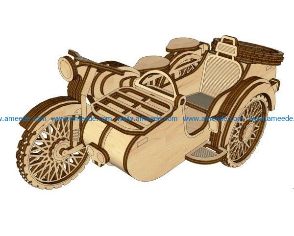 Ural motorcycles file cdr and dxf free vector download for Laser cut