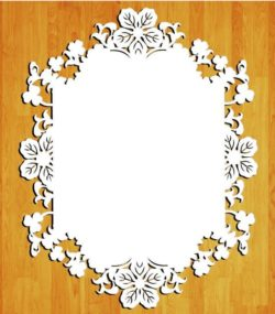 Wedding floral frame file cdr and dxf free vector download for Laser cut